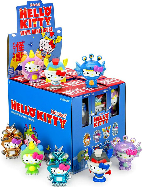 Hello Kitty Vinyl Mini Figure Kaiju 3-Inch Mystery Box [24 Packs] (Pre-Order ships August)