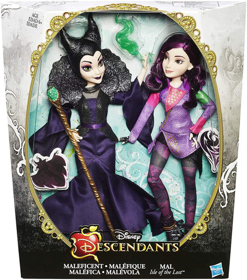 Disney Descendants Mal Isle of The Lost & Maleficent Exclusive 11-Inch Doll 2-Pack