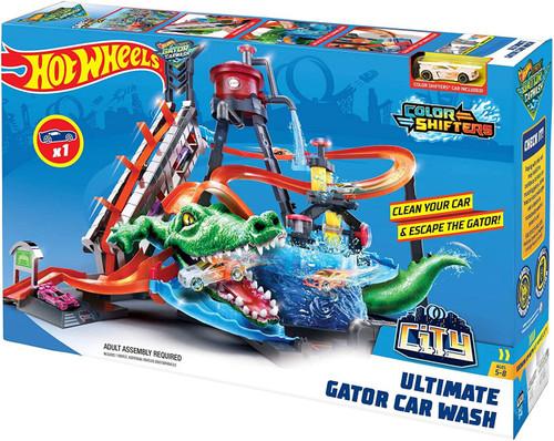 Hot Wheels City Ultimate Gator Car Wash Diecast Car Playset