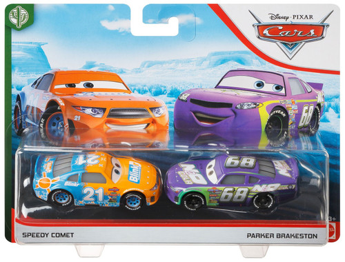 Disney / Pixar Cars Cars 3 Copper Canyon Speedway Speedy Comet & Parker Brakeston Diecast Car 2-Pack