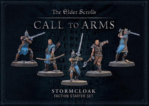 Bethesda The Elder Scrolls: Call to Arms Stormcloak Faction Faction Starter Miniatures Set