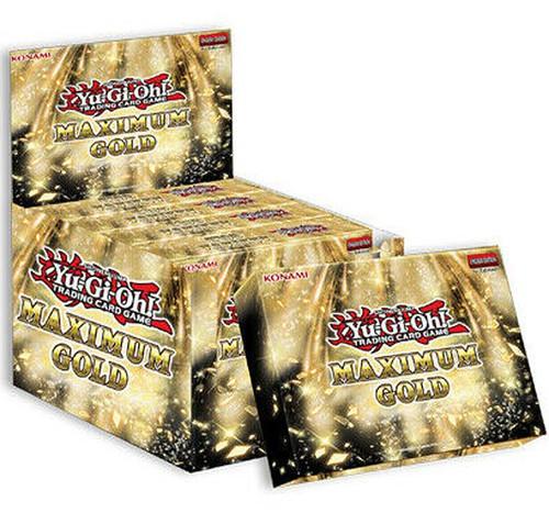 YuGiOh Trading Card Game Maximum Gold DISPLAY Box [5 MINI Boxes (20 Booster Packs)] (Pre-Order ships November)