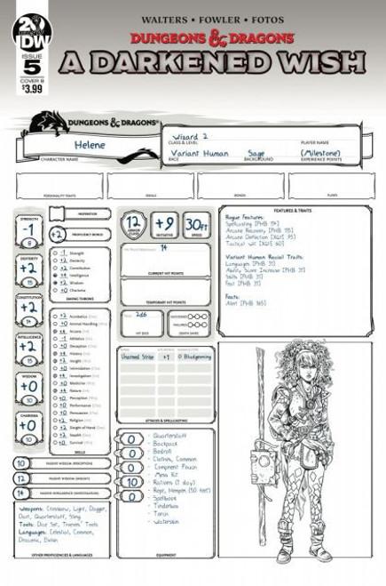 IDW Publishing Dungeons & Dragons: A Darkened Wish #5C Comic Book