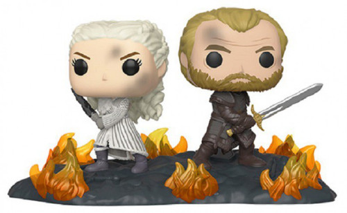 Funko Game of Thrones POP! Moment Daenerys & Jorah Vinyl Figure 2-Pack [Back to Back with Swords, Damaged Package]