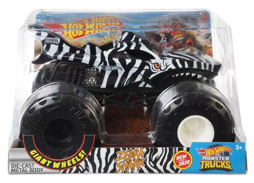 Hot Wheels Monster Trucks Zebra Shark Diecast Car