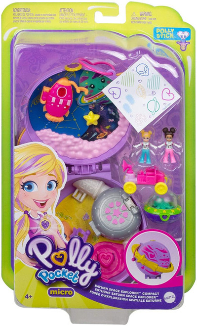 Polly Pocket Micro Saturn Space Explorer Compact Playset