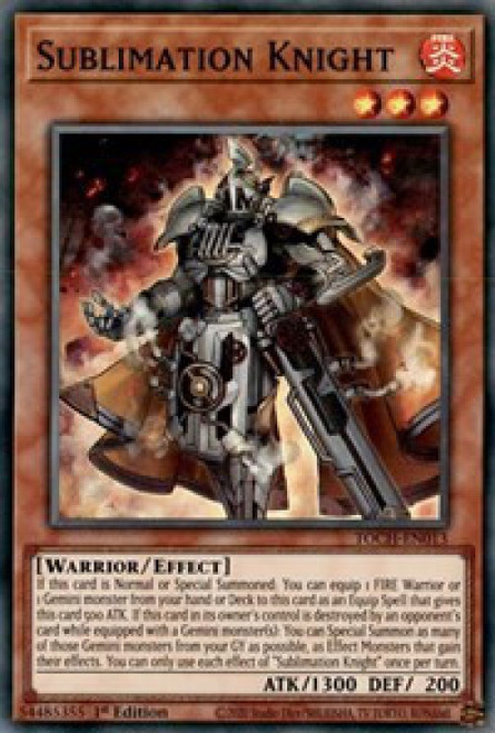 YuGiOh Toon Chaos Super Rare Sublimation Knight TOCH-EN013