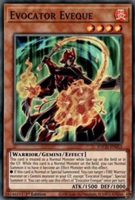 YuGiOh Toon Chaos Super Rare Evocator Eveque TOCH-EN015