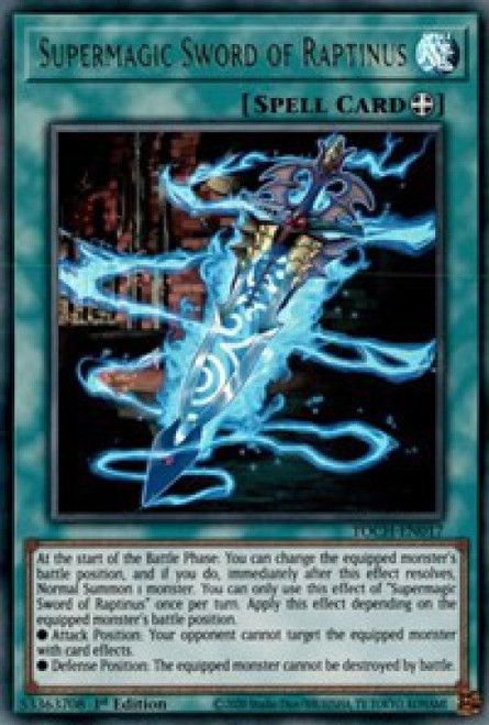 YuGiOh Toon Chaos Ultra Rare Supermagic Sword of Raptinus TOCH-EN017