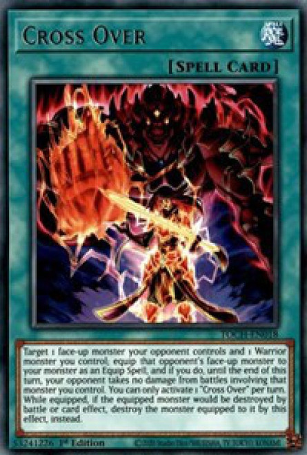 YuGiOh Toon Chaos Rare Cross Over TOCH-EN018