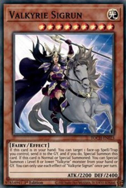 YuGiOh Toon Chaos Super Rare Valkyrie Sigrun TOCH-EN023