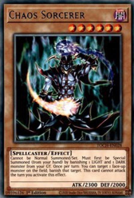 YuGiOh Toon Chaos Rare Chaos Sorcerer TOCH-EN028