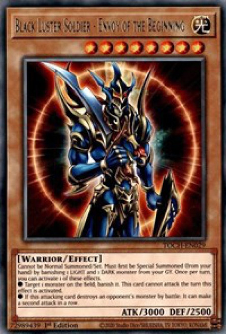 YuGiOh Toon Chaos Rare Black Luster Soldier - Envoy of the Beginning TOCH-EN029