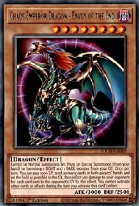YuGiOh Toon Chaos Rare Chaos Emperor Dragon - Envoy of the End TOCH-EN030