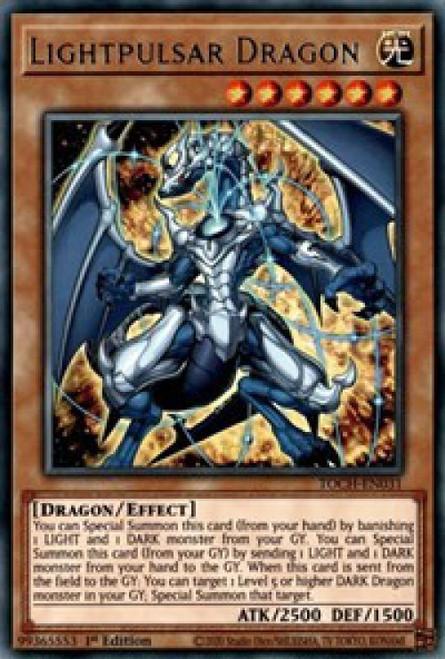 YuGiOh Toon Chaos Rare Lightpulsar Dragon TOCH-EN031