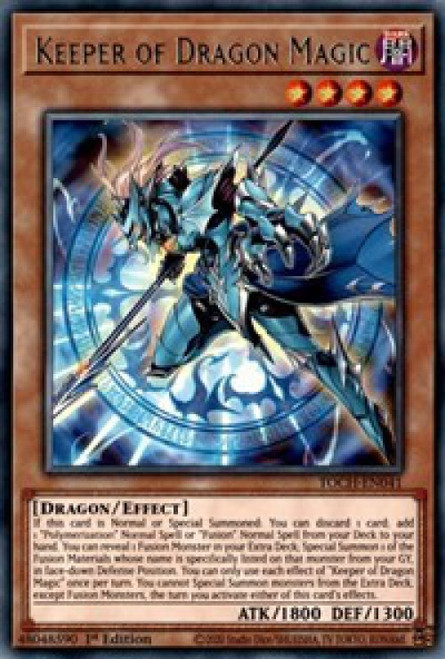 YuGiOh Toon Chaos Rare Keeper of Dragon Magic TOCH-EN041