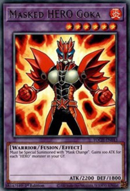 YuGiOh Toon Chaos Rare Masked HERO Goka TOCH-EN043