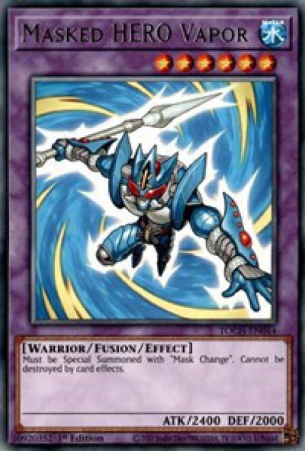 YuGiOh Toon Chaos Rare Masked HERO Vapor TOCH-EN044