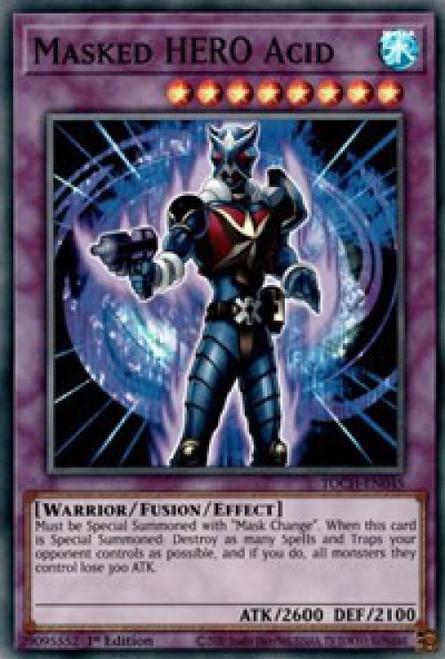 YuGiOh Toon Chaos Super Rare Masked HERO Acid TOCH-EN045