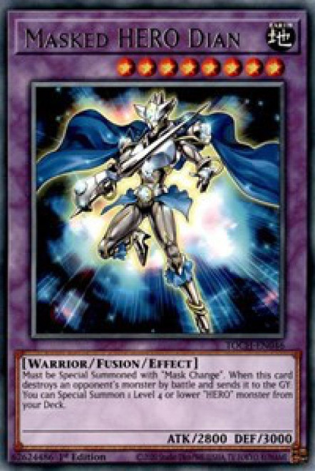 YuGiOh Toon Chaos Rare Masked HERO Dian TOCH-EN046