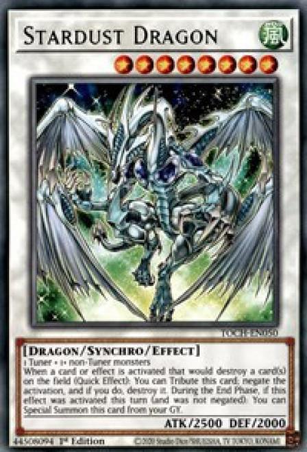 YuGiOh Toon Chaos Rare Stardust Dragon TOCH-EN050