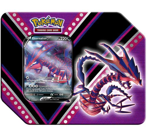 Pokemon Trading Card Game V Powers Eternatus V Tin Set [5 Booster Packs & Promo Card]