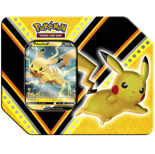 Pokemon Trading Card Game V Powers Pikachu V Tin Set [5 Booster Packs & Promo Card!]