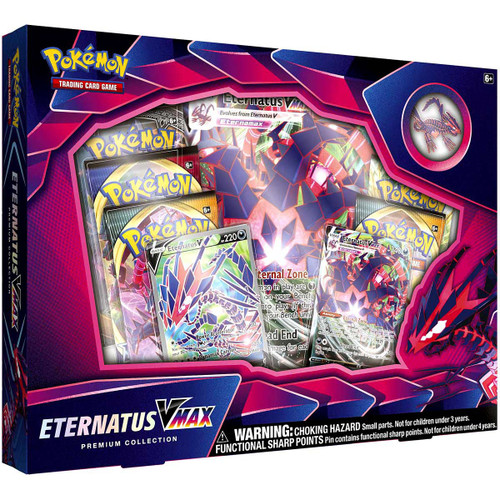 Pokemon Trading Card Game Eternatus VMAX Premium Collection [6 Booster Packs, 2 Promo Cards, Oversize Card & Pin!]