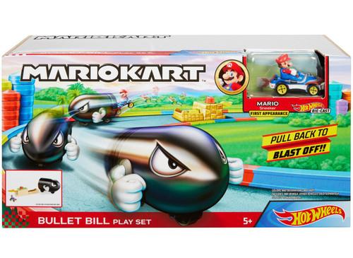 Hot Wheels Mario Kart Bullet Bill Play Set [Launcher with Mario Vehicle]