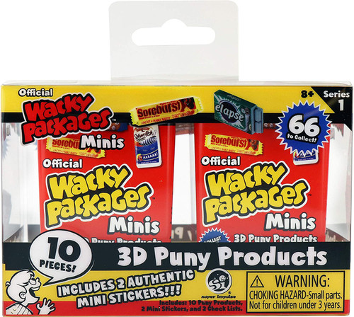World's Smallest Wacky Packages Minis Series 1 Mystery 2-PACK Box [12x 2-Packs]