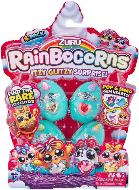 Rainbocorns Itzy Glitzy Series 1 Mystery 4-Pack [4 RANDOM Eggs!]