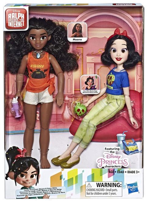 Disney Wreck-It Ralph 2: Ralph Breaks the Internet Comfy Princesses Moana & Snow White 11-Inch Doll 2-Pack