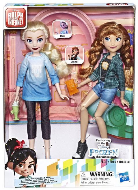 Disney Wreck-It Ralph 2: Ralph Breaks the Internet Comfy Princesses Elsa & Anna 11-Inch Doll 2-Pack