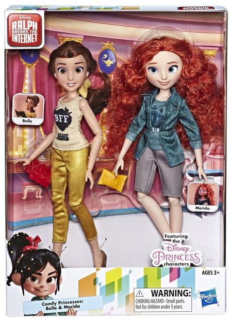 Disney Wreck-It Ralph 2: Ralph Breaks the Internet Comfy Princesses Belle & Merida 11-Inch Doll 2-Pack