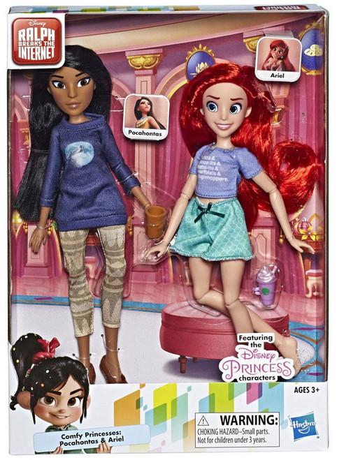 Disney Wreck-It Ralph 2: Ralph Breaks the Internet Comfy Princesses Pocahontas & Ariel 11-Inch Doll 2-Pack