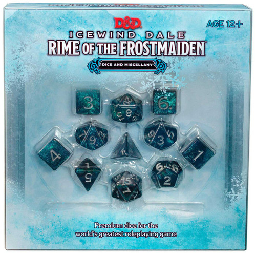 Dungeons & Dragons 5th Edition Icewind Dale: Rime of the Frostmaiden Dice Set (Pre-Order ships November)