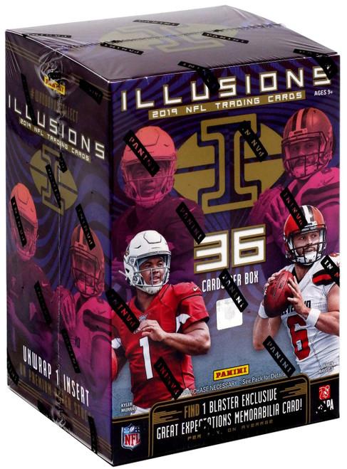 NFL Panini 2019 Illusions Football Trading Card BLASTER Box [6 Packs, 1 Memorabilia Card]