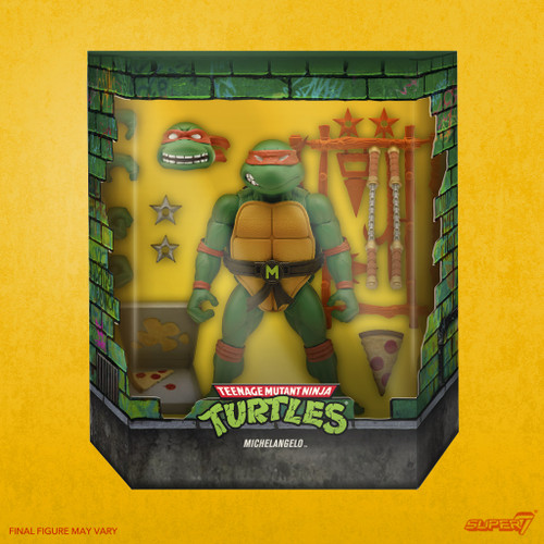 Teenage Mutant Ninja Turtles Ultimates Wave 3 Michaelangelo Action Figure (Pre-Order ships April)