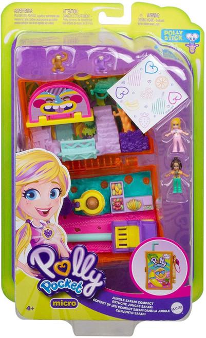 Polly Pocket Micro Jungle Safari Compact Playset
