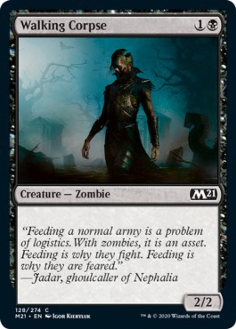 MtG Core Set 2021 Common Walking Corpse #128
