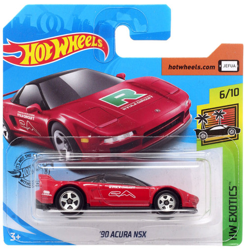 Hot Wheels HW Exotics '90 Acura NSX Diecast Car #6/10 [Short Card]