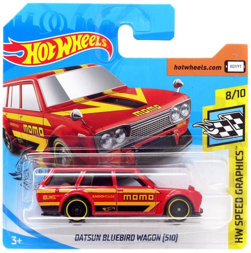 Hot Wheels HW Speed Graphics Datsun Bluebird Wagon (510) Diecast Car #8/10 [Short Card]