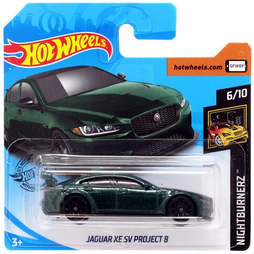 Hot Wheels Nightburnerz Jaguar XE SV Project 8 Diecast Car #6/10 [Short Card]