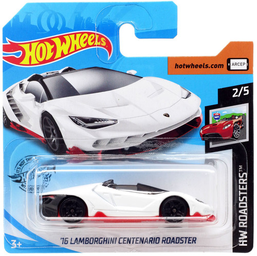 Hot Wheels HW Roadsters '16 Lamborghini Centenario Roadster Diecast Car #2/5 [Short Card]