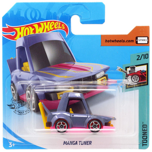 Hot Wheels Tooned Manga Tuner Diecast Car #2/10 [Short Card]