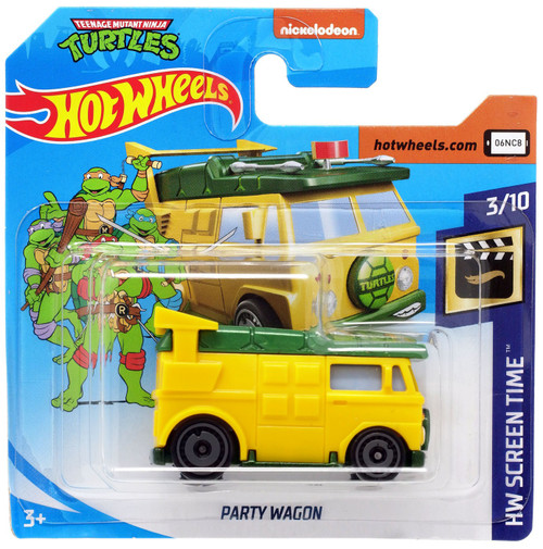 Hot Wheels Teenage Mutant Ninja Turtles HW Screen Time Party Wagon Diecast Car #3/10 [Short Card]