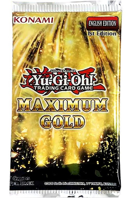 YuGiOh Trading Card Game Maximum Gold Booster Pack [7 Cards]