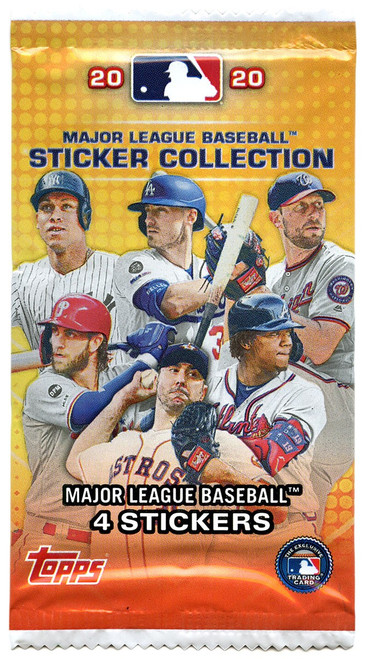 MLB Topps 2020 Baseball Sticker Collection Pack [4 Stickers!]