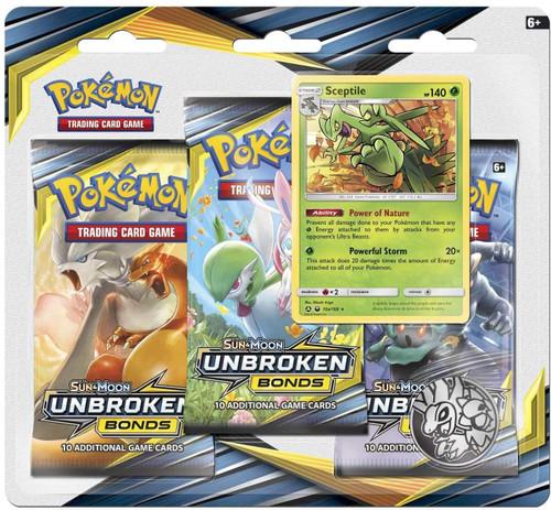 Pokemon Trading Card Game Sun & Moon Unbroken Bonds Sceptile Special Edition [3 Booster Packs, Promo Card & Coin]