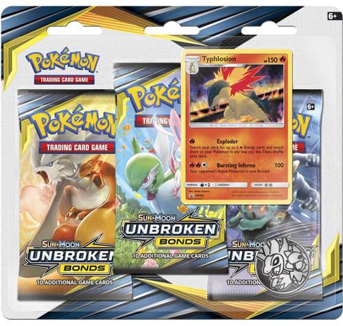 Pokemon Trading Card Game Sun & Moon Unbroken Bonds Typhlosion Special Edition [3 Booster Packs, Promo Card & Coin!]